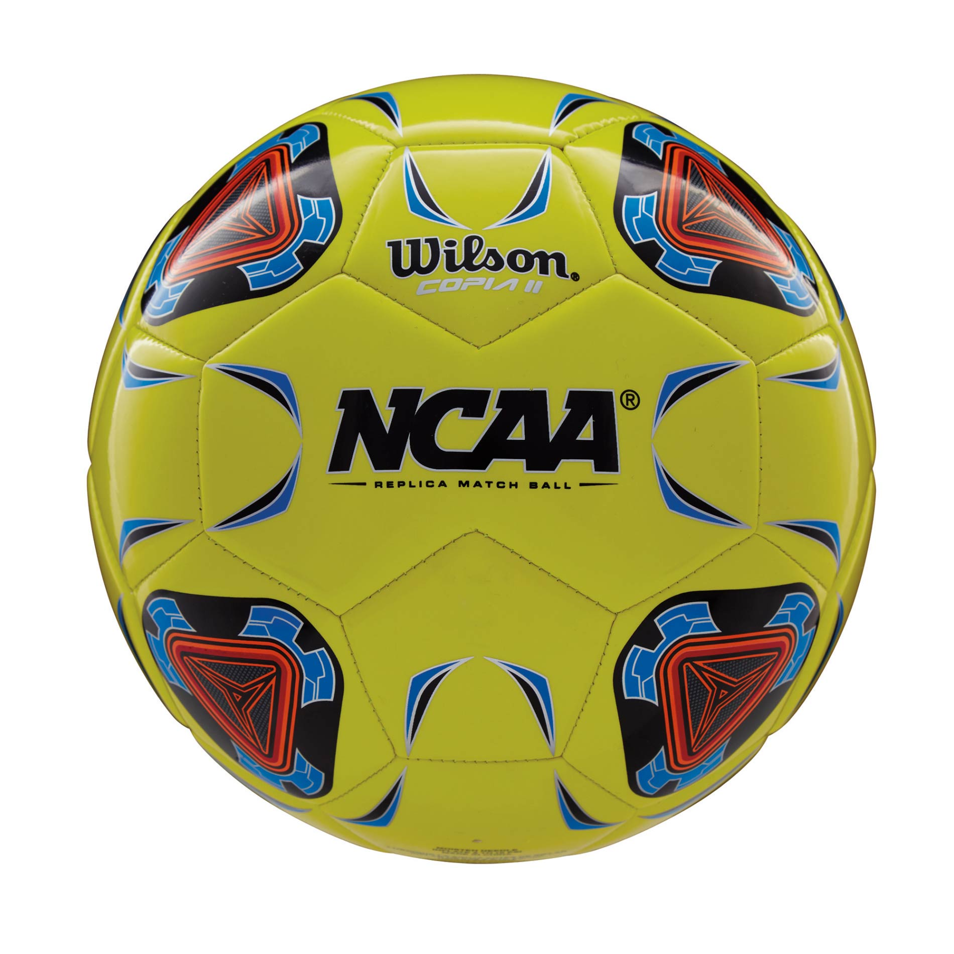 Wilson NCAA Copia II Soccer Ball (4) Optic Yellow - Blue