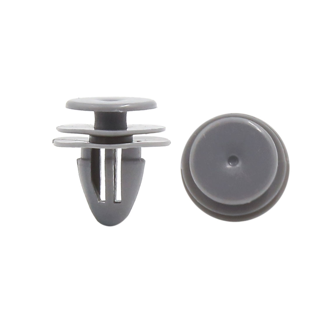 20Pcs 9mm Hole Gray Plastic Fender Bumper Boot Retainer Rivet Clip for Car