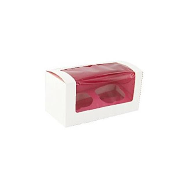 Packnwood 209BCKF2 Pink Cupcake Box With Window