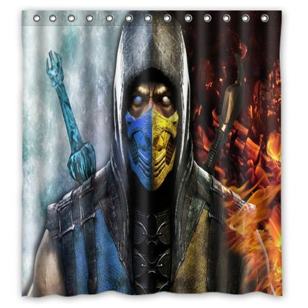 DEYOU Sub Zero And Scorpion Shower Curtain Polyester Fabric Bathroom Shower Curtain Size 66x72 inches for $<!---->