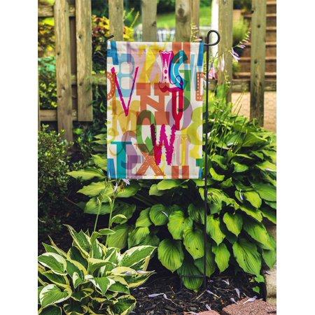 JSDART Blue Primary Alphabet Letter Pattern Colorful Preschool School ABC Garden Flag Decorative Flag House Banner 12x18 inch - image 2 of 2