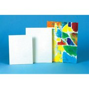 Sax Genuine Canvas Panels Choice of Size, White, Case of 36