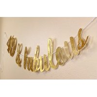 All About Details 40 & Fabulous Cursive Banner (Gold)