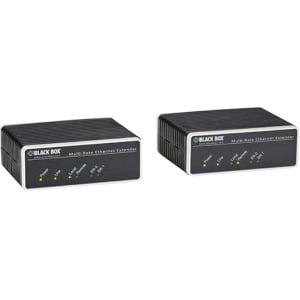 Black Box Ethernet Extender - Unmanaged, 2-Port - Network (RJ-45) (Black Box Ethernet Extender)