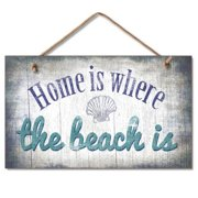 """""""Home Is Where..."""" Wood Composite Sign"""