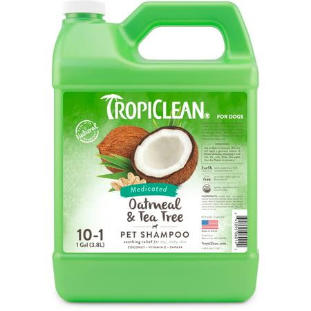 TropiClean Oatmeal & Tea Tree Pet Shampoo, 1 Gal