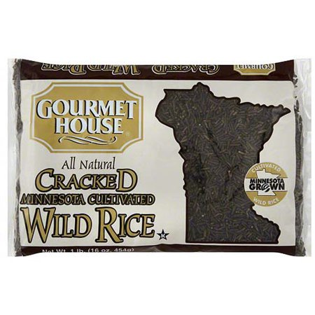 - Gourmet House Cracked Minnesota Cultivated Wild Rice, 1 lb (Pack of 6)