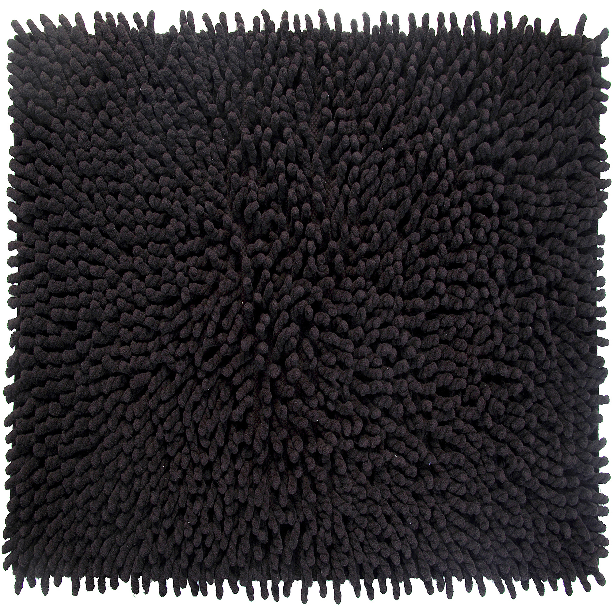 Loopy Chenille Percent Cotton Bath Rug Walmartcom - Black chenille bath rug for bathroom decorating ideas