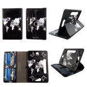 """World Design tablet case 8 inch  for Samsung Galaxy Tab A 8"""" 8inch android tablet cases 360 rotating slim folio stand protector pu leather cover travel e-reader cash slots"""