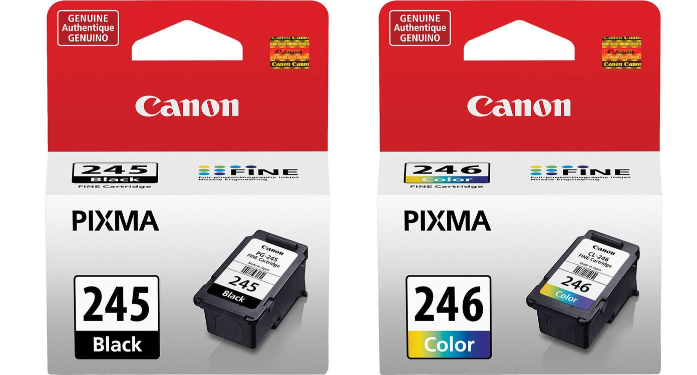 Genuine Canon Black PG 245 CL 246 Color Ink Cartridges for MG2520 MG2920 MG2420