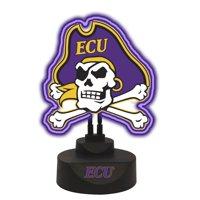 "13.5"" Purple and Black NCAA East Carolina Pirates Tabletop Neon Lamp"