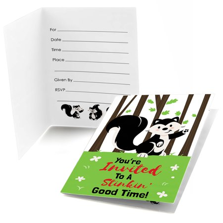 Little Stinker - Fill in Woodland Skunk Baby Shower or Birthday Party Invitations (8 Count)](60 Birthday Invitations)