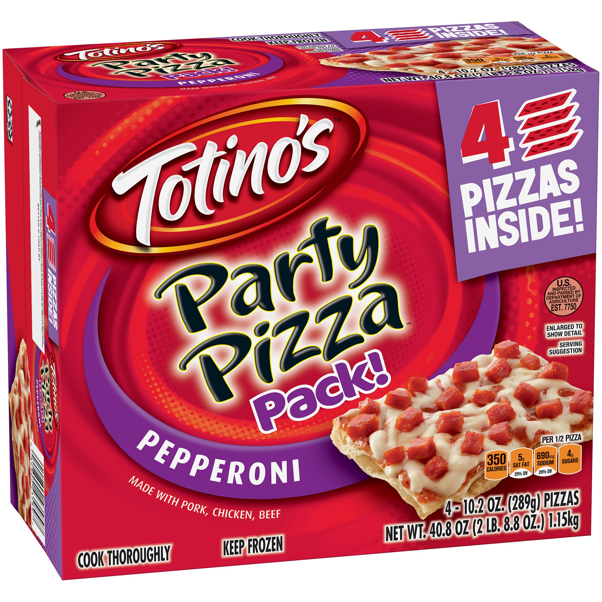 Totino's          Pepperoni Party Pizza ...