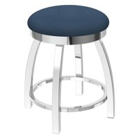 Holland Bar Stool Co Misha Metal Swivel Dining Stool with Faux Leather Seat