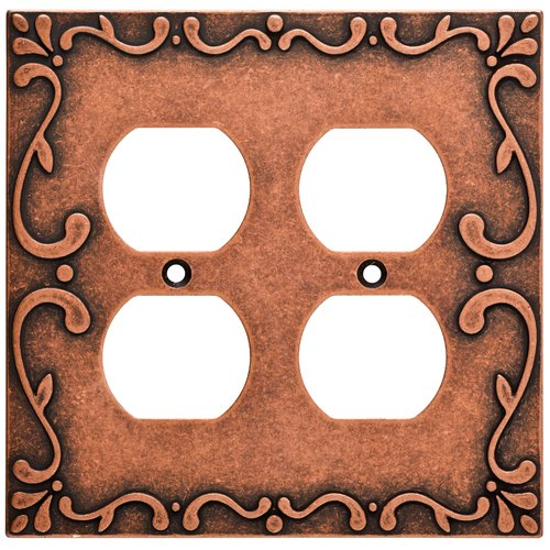 Franklin Brass Classic Lace Double Duplex Wall Plate