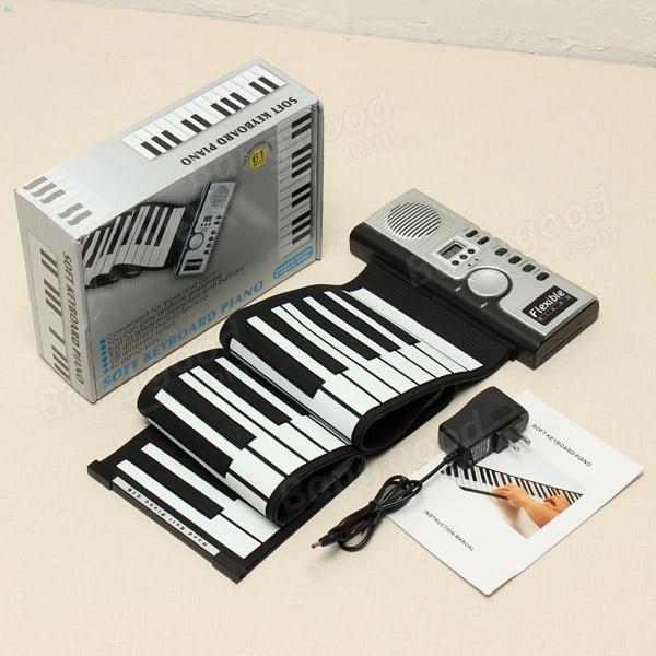 Electronic Organ 61 Keys Universal Flexible Roll Up Electronic Piano Soft Keyboard Piano on Clearance