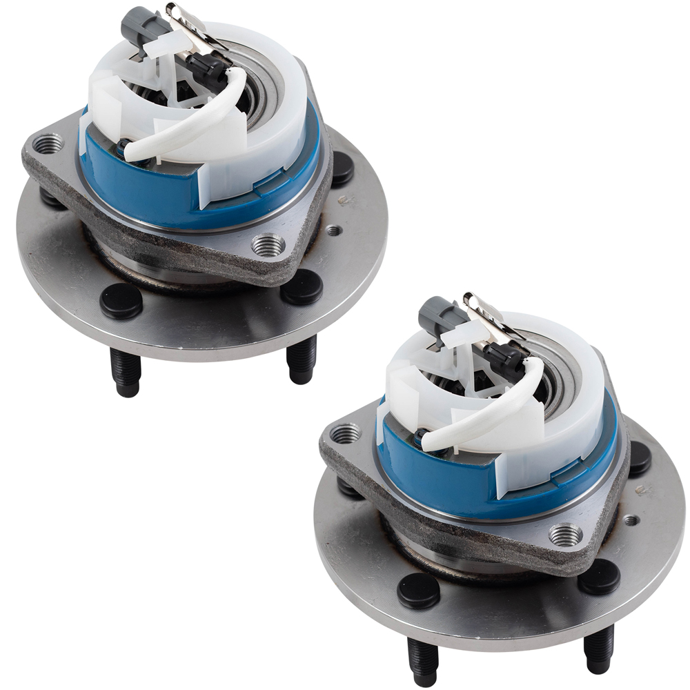 Pair of Wheel Hub Bearings with Plastic Sensor Wire Clip Replacement for Chevrolet Buick Cadillac Van 88964168