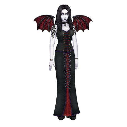 The Holiday Aisle Halloween Jointed Goth Beauty Wall D cor