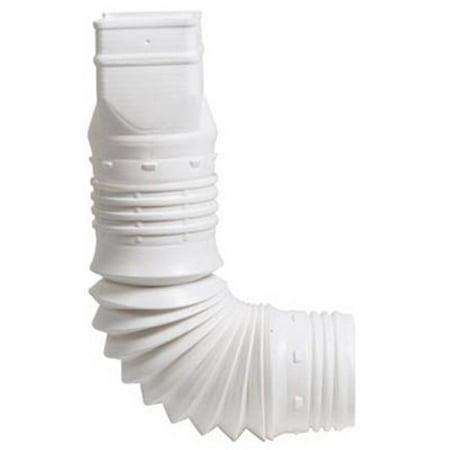 Flex-A-Spout Down Spout Adaptor, White, 3 x 4-In. ()