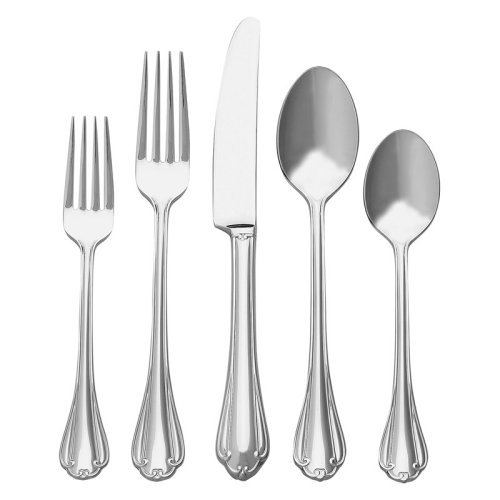 Ginkgo Royal Chippendale Stainless Flatware - Set of 20