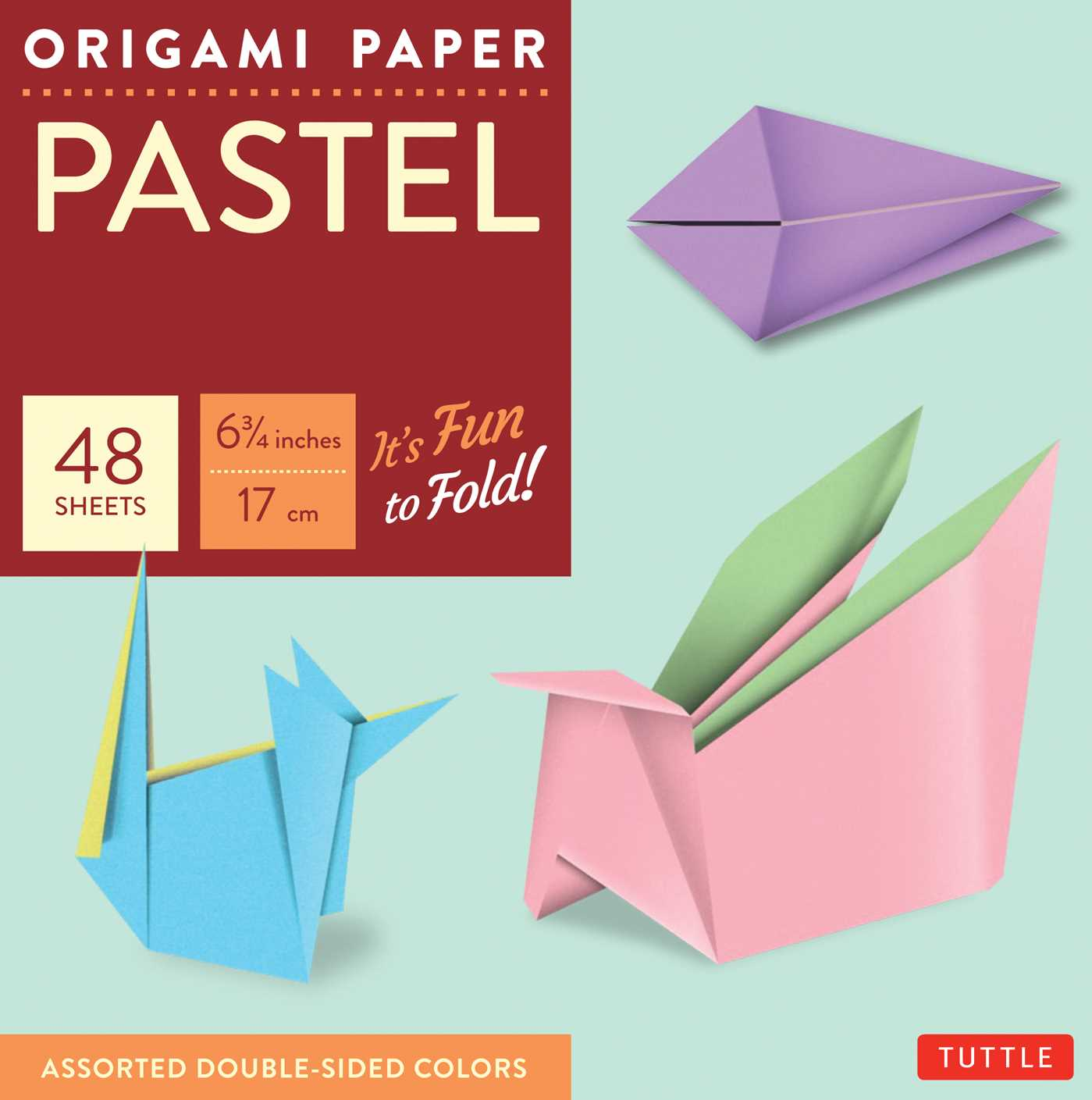 "Origami Paper - Pastel Colors - 6 3/4"" - 48 Sheets : Tuttle Origami Paper: High-Quality Origami Sheets Printed with 6 Different Colors: Instructions for 6 Projects Included"