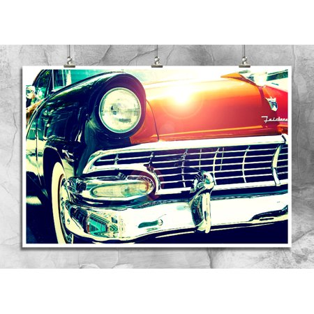 1957 Ford Fairlane | Classic Antique Car Show | Mechanic Shop Wall Decor | 18 By 12 Inch Premium 100lb Gloss Poster ()