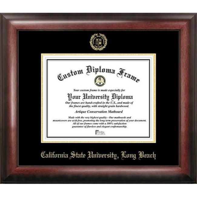 Cal State Long Beach Gold Embossed Diploma Frame