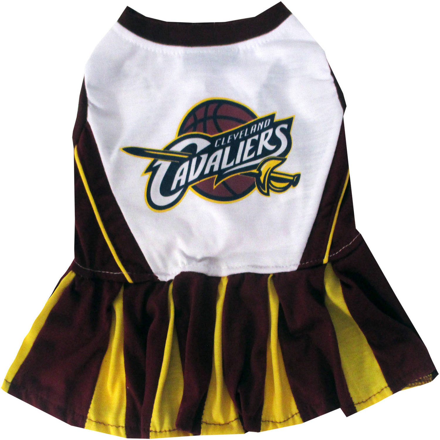 Pets First NBA Cleveland Cavaliers Cheerleader, 3 Sizes Pet Dress Available. Licensed Dog Outfit