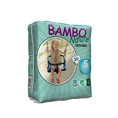 Bambo Nature Baby Training Pants Classic (Choose Size and Count), Size 5 (26-44 lbs) 20 Count