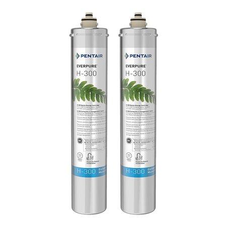 Everpure Water Systems - Pentair Everpure H-300 Undersink Water Filter Replacement Cartridge (2 Pack)