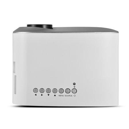 Yosoo 1080P Mini Multimedia Home Theater Video LED Projector w/ AV/USB/VGA/HDMI/SD Slot, portable projector,projector