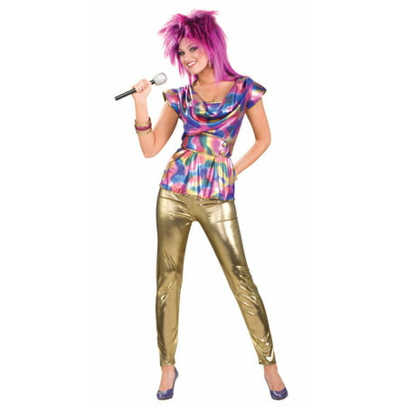 80's Punk Rock Video Star Female Adult Costume - 80s Rock Star Costumes