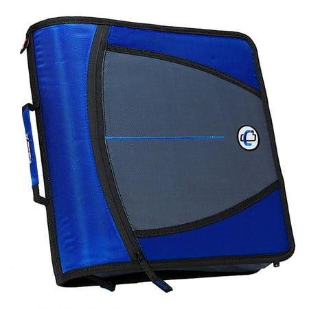 Case-it 3 Inch Mighty Zipper Binder, Blue, 1 Count ()