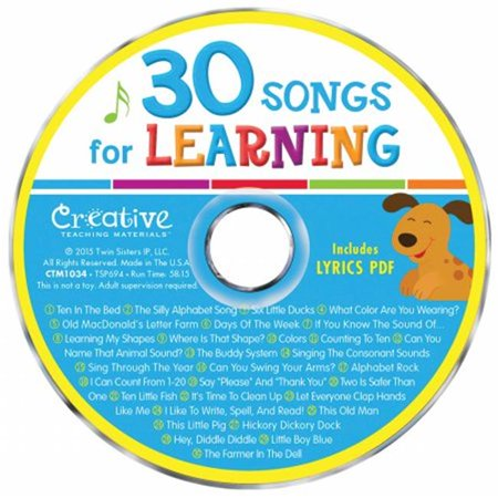 Pbs Publishing CTM1034 Creative Teaching Materials Music CD - 30 Songs For Learning - image 1 of 1