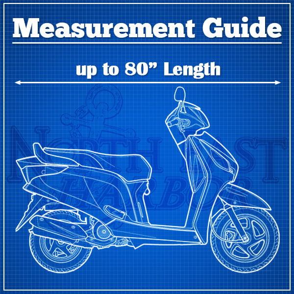 Motorcycle Bike Cover Travel Dust Storage Cover For Honda Ruckus Aero Z 50 90