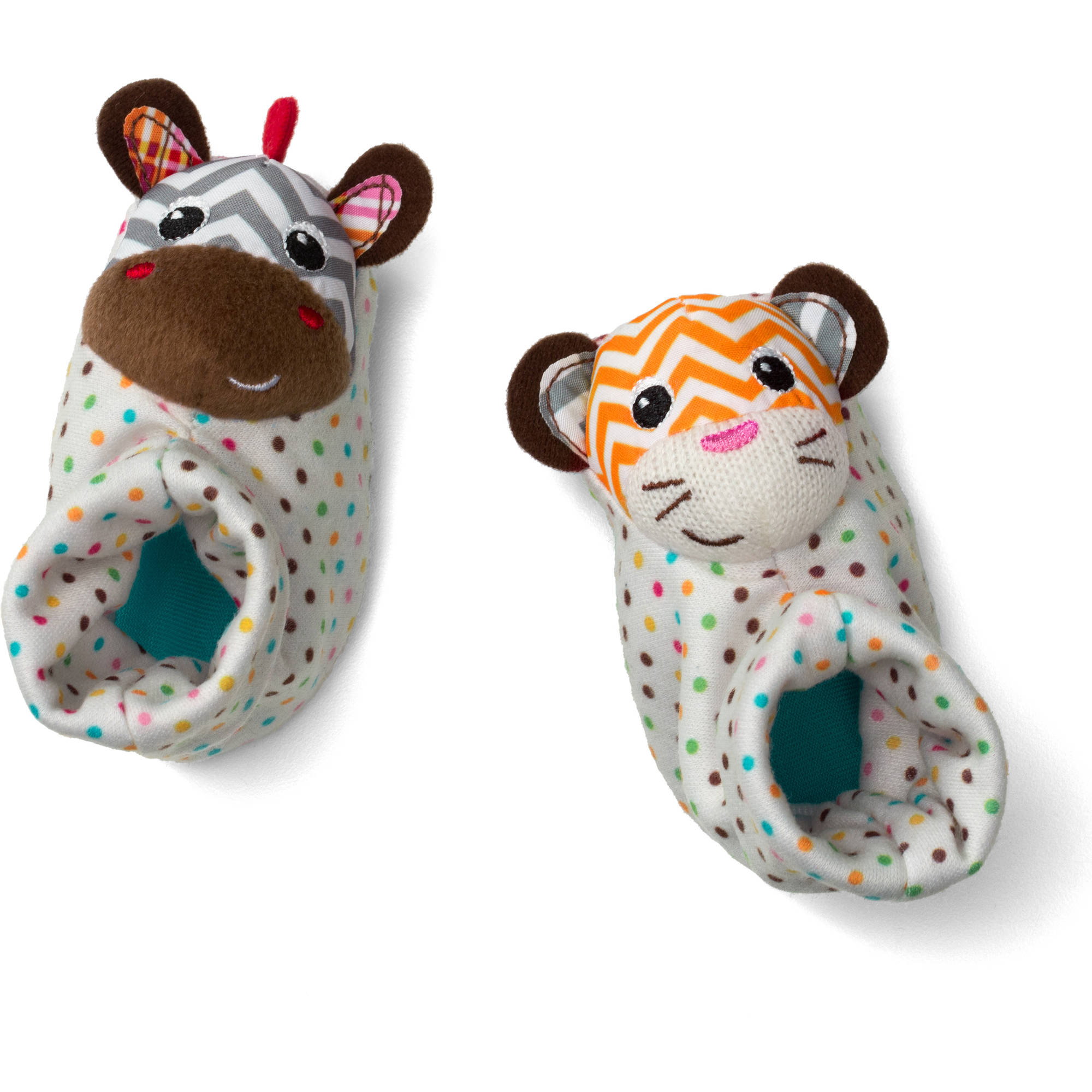 Infantino See Play Go Foot Rattles Zebra & Tiger