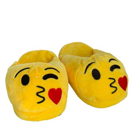 Emoji House Slippers Funny Soft Plush For Adults Kids Teens Bedroom Smiley Comfy Socks Womens Girls
