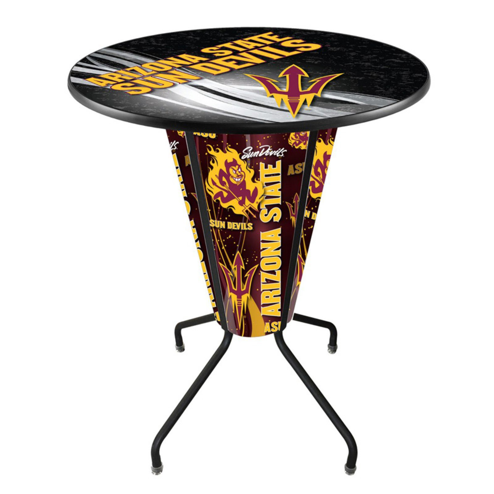 Holland Lighted NCAA Pub Table with Logo Top
