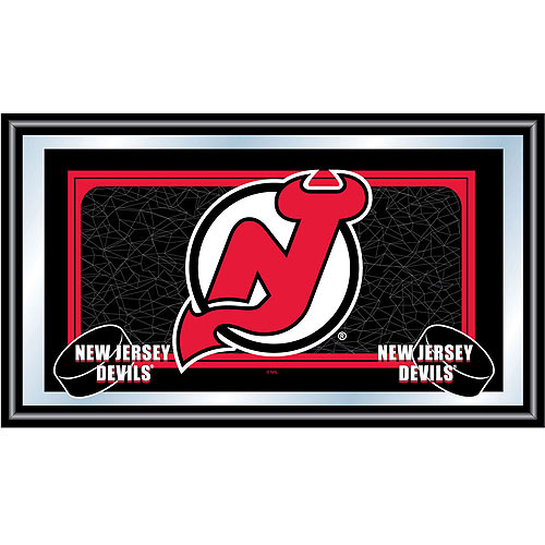 NHL New Jersey Devils Framed Team Logo Mirror