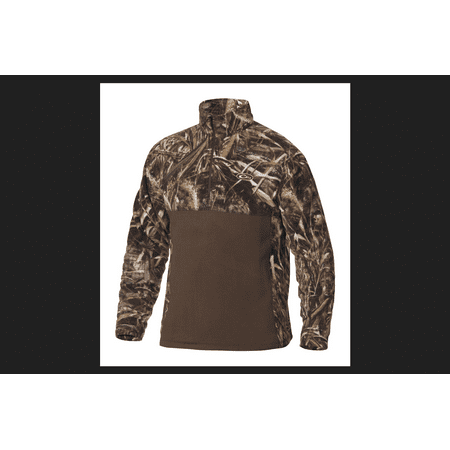 Drake MST M Long Sleeve Men's Quarter Zip Brown/Camo (Drake Long Sleeve)