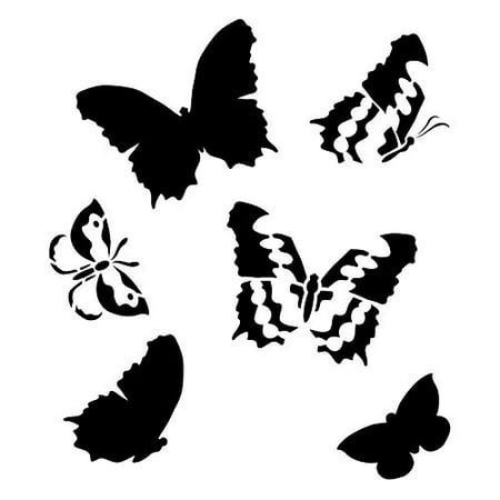 Butterfly Stencil by StudioR12 | Graceful Spring Nature Pattern Art - Medium 12 x 12-inch Reusable Mylar Template | Painting, Chalk, Mixed Media | Use for Crafting, DIY Home Decor - STCL364_3