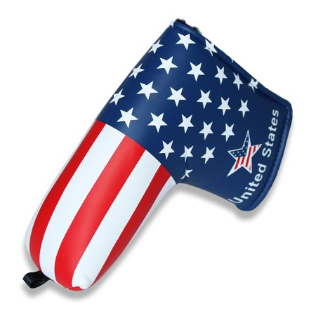 Craftsman USA Flag Golf Putter Cover Headcover For Blade Style club