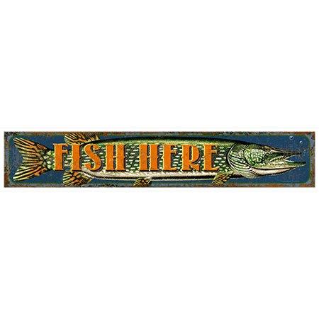 Here Vinyl (Fish Here [3 Pack] of Vinyl Decal Stickers | 5