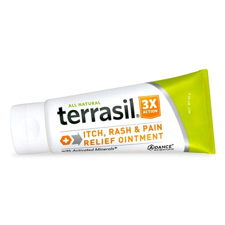 Terrasil® Itch Rash & Pain Relief Ointment with All-Natural Activated Minerals® 3X Action (50gm tube size) Itch Relief Ointment