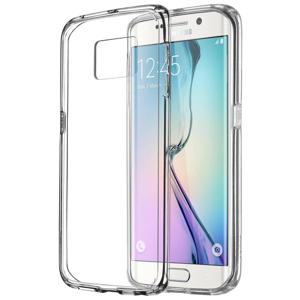 Galaxy S6 Edge Case, ULAK [CLEAR SLIM] Premium Back Absorption Bumper Hard TPU Cover for Samsung Galaxy S6 Edge - Crystal Clear