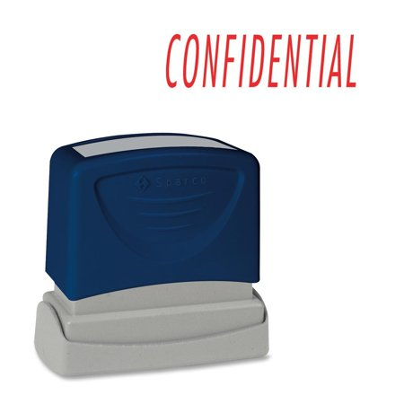 Confidential Ink Stamp - Sparco Pre-inked Stamp - Confidential Message Stamp - 1.75