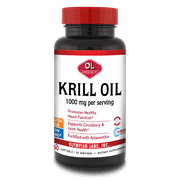 Olympian Labs Krill Oil Softgels, 1000 Mg, 60 Ct