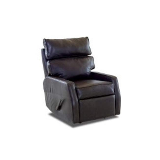 Furniture 12013372807 40 x 29 x 37 in. Fairlane Leather Reclining Rocking Chair, Expresso by DeluxDesigns