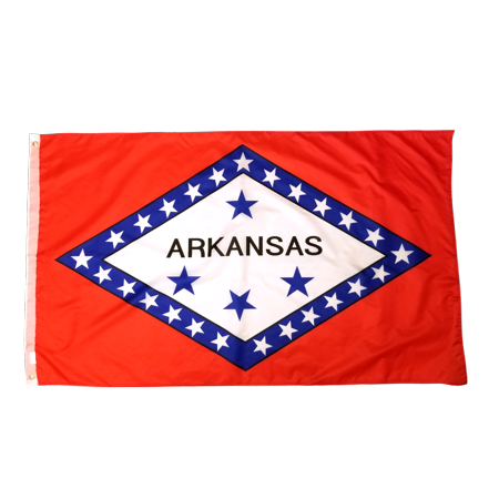 3x5 Foot Arkansas Flag Double Stitched Arkansas State Flag with Brass Grommets | 3 by 5 Foot Premium Indoor Outdoor Polyester Banner Flag Arkansas Ar State Flag