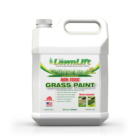 64 OZ. LawnLift Grass Paint concentrate. Covers up to 2000 sq. feet of yellowed lawn.